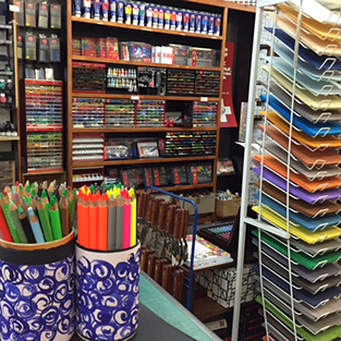 Inside Newtown Art Supplies Store
