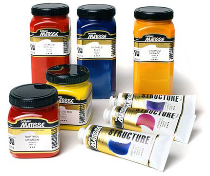 Matisse Structure Acrylics in 75ml tubes, 250ml and 500ml jars