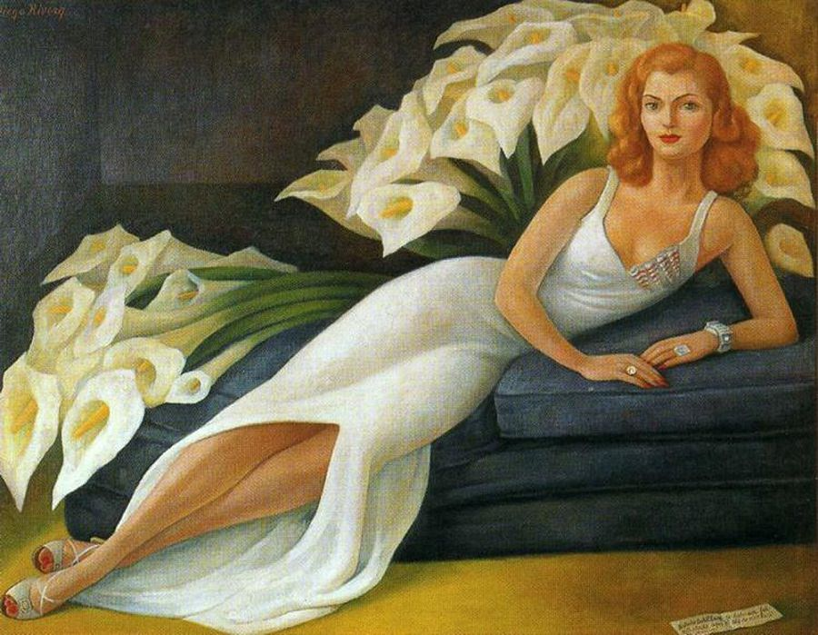 Portrait of Natasha Gelman, Diego Rivera 1943
