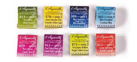 Sennelier Watercolour Half Pans