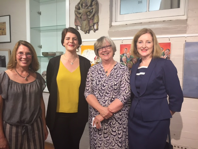 Jane Theau (Workshop Arts Centre President), Meghan Rauch (Newtown Art Supplies), Luise Guest (Director, Education & Research at White Rabbit Collection) and Willoughby City Council Mayor Gail Giles-Gidney.