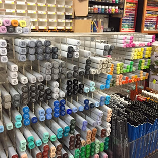 Inside Newtown Art Supplies Store - Pens and Markers