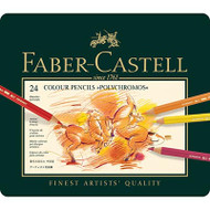 Faber Castell Polychromos Artist Coloured Pencils 24 Set