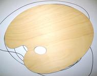 Large Wooden Kidney Palette - 35cm x 45cm