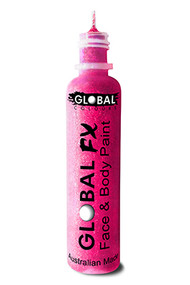 Global FX Face & Body Paint 36ml - Fluoro Neon Pink