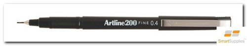 Artline 220 Fineliner Black Pen 0.2