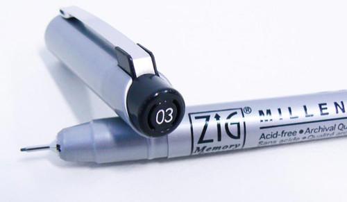 Zig Millenium Black - Size 03