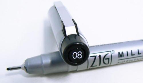 Zig Millenium Black - Size 08