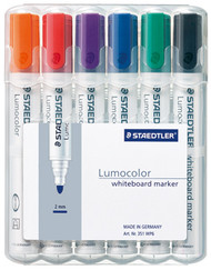 Steadtler Lumocolor Whiteboard Marker - Set of 6