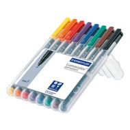 Staedtler Lumocolor Permanent Fine - Box of 8 Colour (0.6mm)