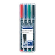 Staedtler Lumocolor Permanent Medium - Box of 4 Colours (1.0mm)