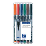 Staedtler Lumocolor Permanent Broad - Box of 6 Colour (2.5mm)