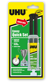UHU Epoxy Quick Set Glue with Syringe - 14ml