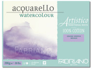 FABRIANO ARTISTICO TRADITIONAL WHITE 4 SIDES GLUED PAD ROUGH 15 SHEETS 200GSM 45.5X61CM