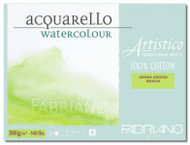 FABRIANO ARTISTICO TRADITIONAL WHITE 4 SIDES GLUED PAD ROUGH 25 SHEETS 300GSM 12.5X18CM
