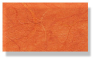 Mulberry Silk Paper With Fibres - Dark Orange