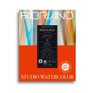 Fabriano Studio Watercolour 300GSM Pad Hot Pressed (Smooth) 12 Sheets - 28cm x 35.6cm