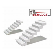 White Polystyrene Straight Stairs 35?? - 1:50,  (w=20mm)