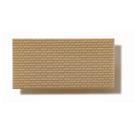 Textured Polystyrene Sheet, Through-Stamped, Small Olive-Grey Brickwork - 1:100