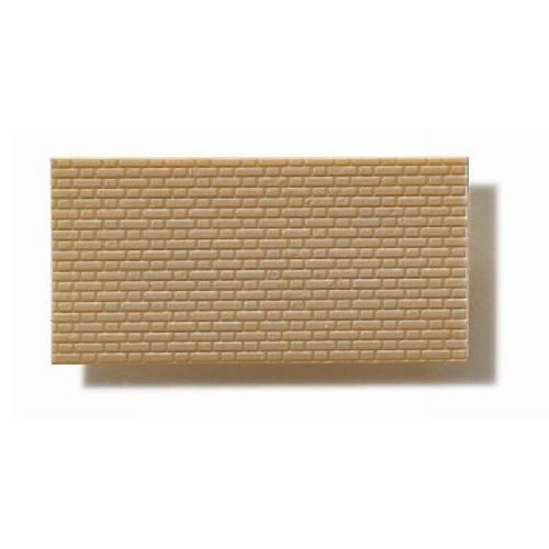 Textured Polystyrene Sheet, Through-Stamped, Small Olive-Grey Brickwork - 1:100