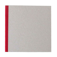 "Pasteboard Cover Sketchbook 100gsm 144pgs - 21cm x 21cm/8.3"" x 8.3"" - Red"