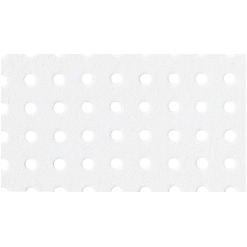 Small Perforated Board RG 1.8/5.0 - 350mm x 500mm - Bright White