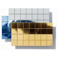 Polystyrene Self-Adhesive Mirror 10mm Squares Silver