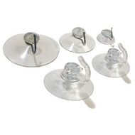 Suction Cup with Movable Plastic Hook or Steel Hook