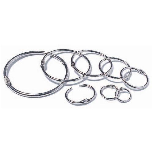 Nickel-Plated Loose Leaf Rings, Silver