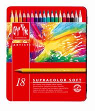 Supracolor Soft Aquarelle Pencil Assort. 18 Box Metal   |  3888.318