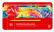 Supracolor Soft Aquarelle Pencil Assort. 80 Box Metal   |  3888.380