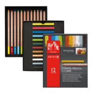 Pastel Initiation Set 12 Pastel Pencils + 12 Pastel Cubes | 7880.412