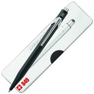 Caran D'Ache 849 Ballpoint Pen with Case - Black  |  849.509