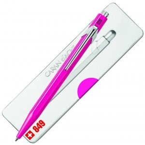 Caran D'Ache 849 Ballpoint Pen with Case - Fluo Purple  |  849.590