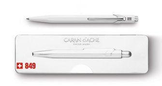 Caran D'Ache 849 Ballpoint Pen with Case - White  |  849.502