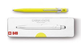 Caran D'Ache 849 Ballpoint Pen with Case - Fluo Yellow  |  849.970