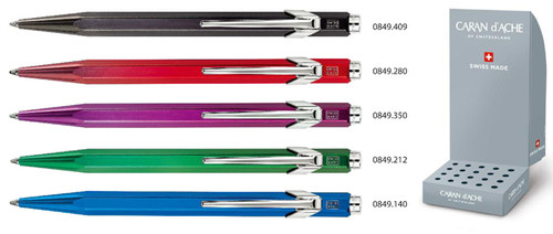 849 Ballpoint Pen Metal-X green with box  |  849.712