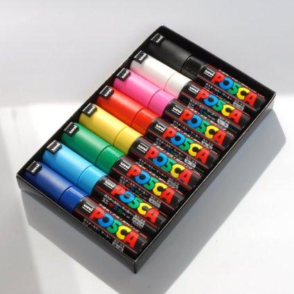 8 Assorted Uni Posca Bold Colours