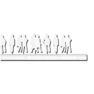 White Silhouette Figures 20 Pieces - 1:100