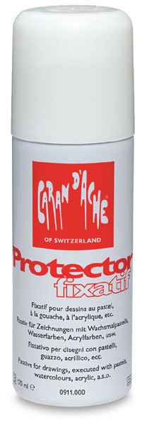 Caran D'Ache Protector Fixative Spray for Oil and Wax Pastels 170ml
