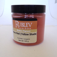 Rublev Colours Dry Pigments 100g - S1 Mars Red (Yellow Shade)