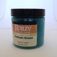 Rublev Colours Dry Pigments 100g - S3 Phthalo Green