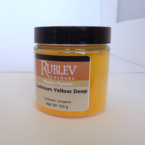 Rublev Colours Dry Pigments 100g - S6 Cadmium Yellow Deep