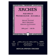 Arches Watercolour Pad Hot Pressed (Smooth) 300GSM - A5