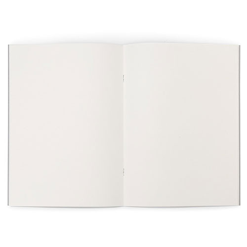 """Grey-Covered Booklet 120gsm 32pgs - A4/8.3"""" x 11.7"""" - Open"""