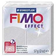 Steadtler FIMO Soft  Effect Polymer Clay 57g Metallic Silver