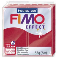 Steadtler FIMO Soft  Effect Polymer Clay 57g Metallic Ruby Red