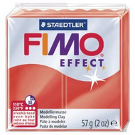 Steadtler FIMO Soft Effect Polymer Clay 57g Translucent Red