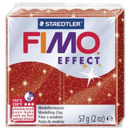 Steadtler FIMO Soft Effect Polymer Clay 57g Glitter Red