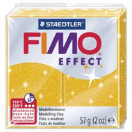 Steadtler FIMO Soft Effect Polymer Clay 57g Glitter Gold